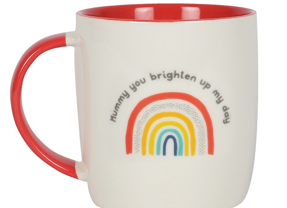 Mummy You Brighten Up My Day Rainbow Mug