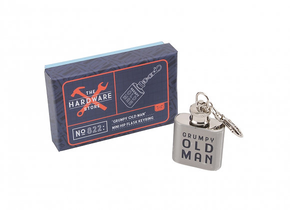 The Hardware Store: 'Grumpy Old Man' Mini Hip Flask Keyring