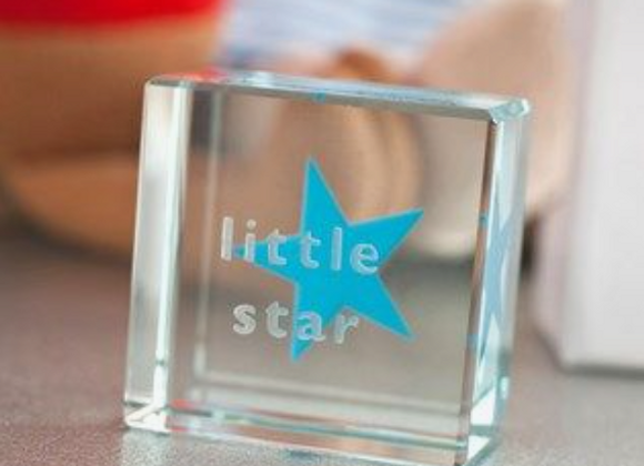 Spaceform London Little Star Glass Text Token