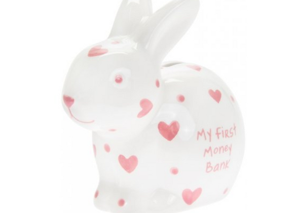 My First Bunny Money Box - PINK