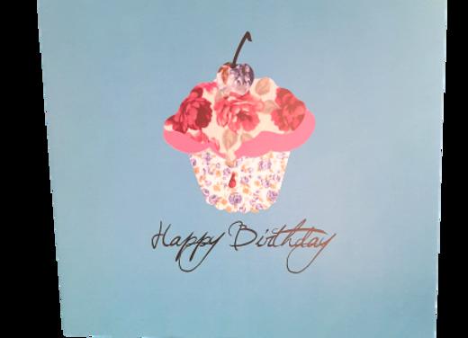 'Love This' Happy Birthday Cupcake Greetings Card