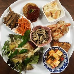 カボチャのスープとブロッコリのコロッケ