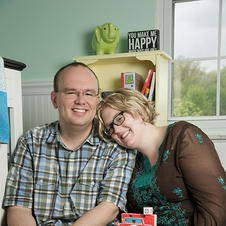 Mark and Sarah. Waiting to be matched in a domestic infant adoption after scarring from abdominal surgery made it impossible to get pregnant without IVF