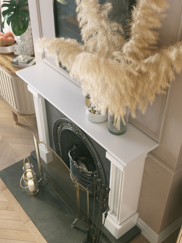 A RESIDENTIAL FIREPLACE