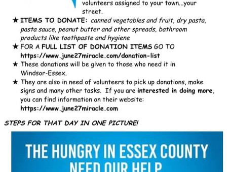 June 27th Miracle Across Windsor & Essex County