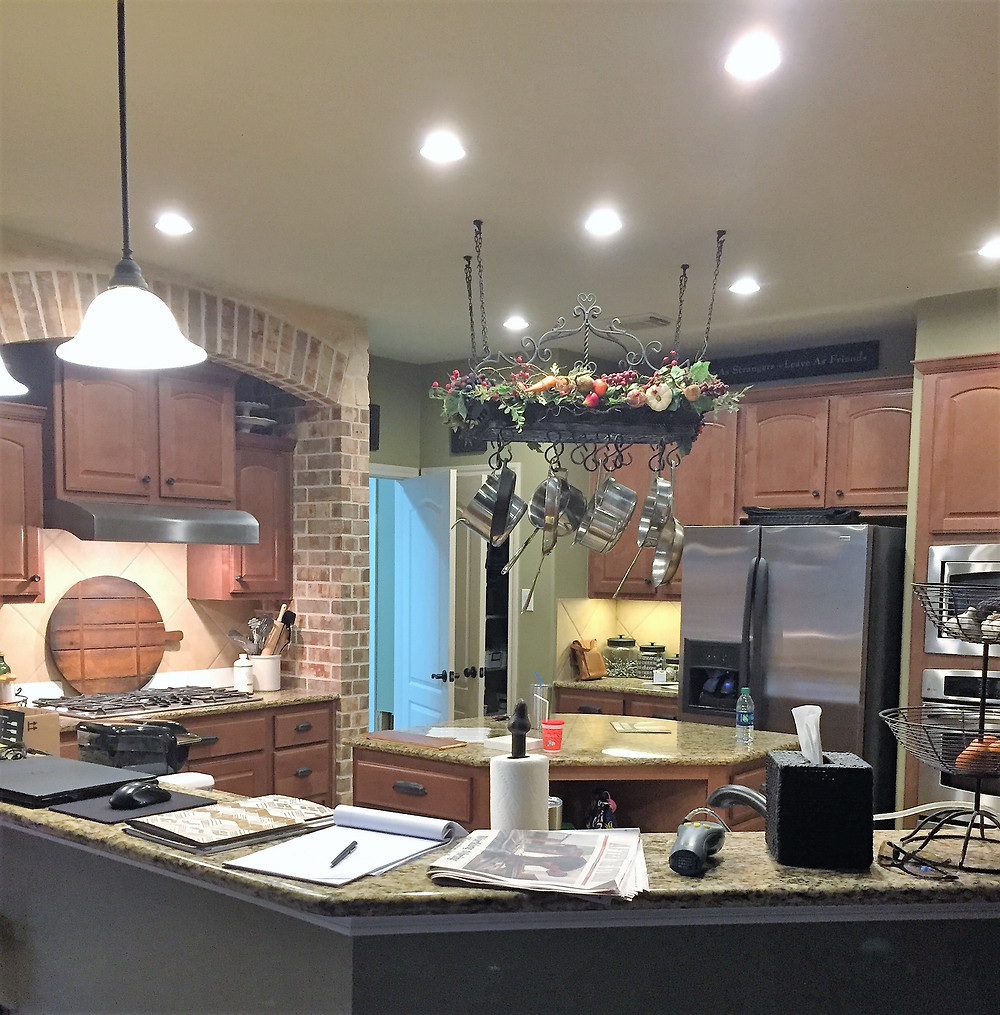 Our old kitchen at the beginning of the remodel