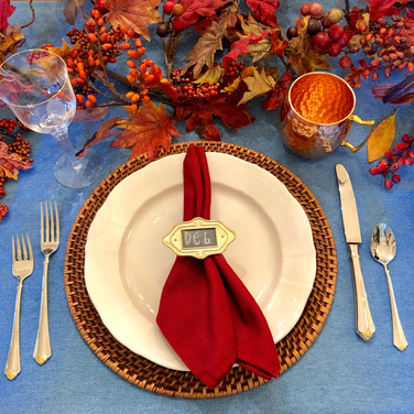A $0 Thanksgiving Place Setting: Using What You Already Have