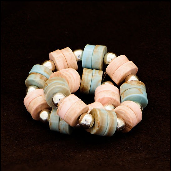 Resin Beads, Turquoise and Light Pink Colour
