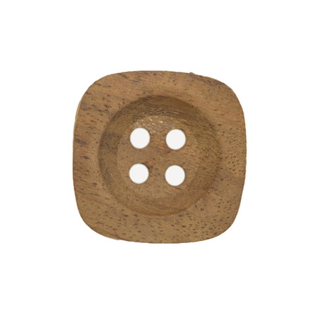 4 Hole Square Wood Button