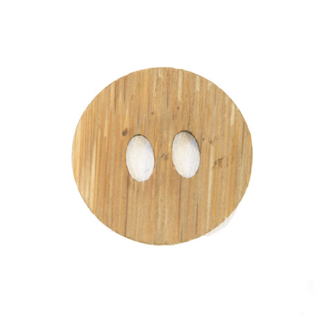 Flat Bamboo Button