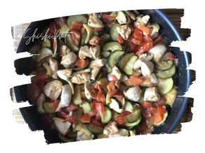 Recette poêlée de poulet et légumes d'été