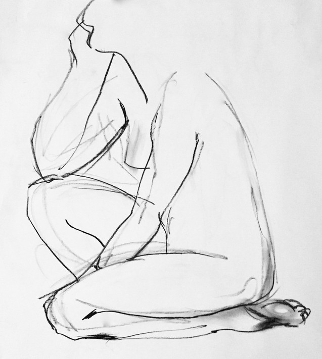 female kneeling