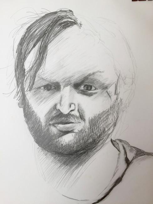 strange man's head