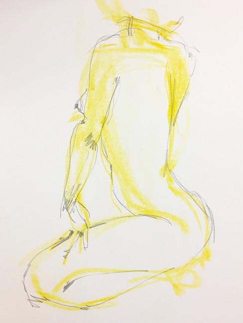 female study in yellow