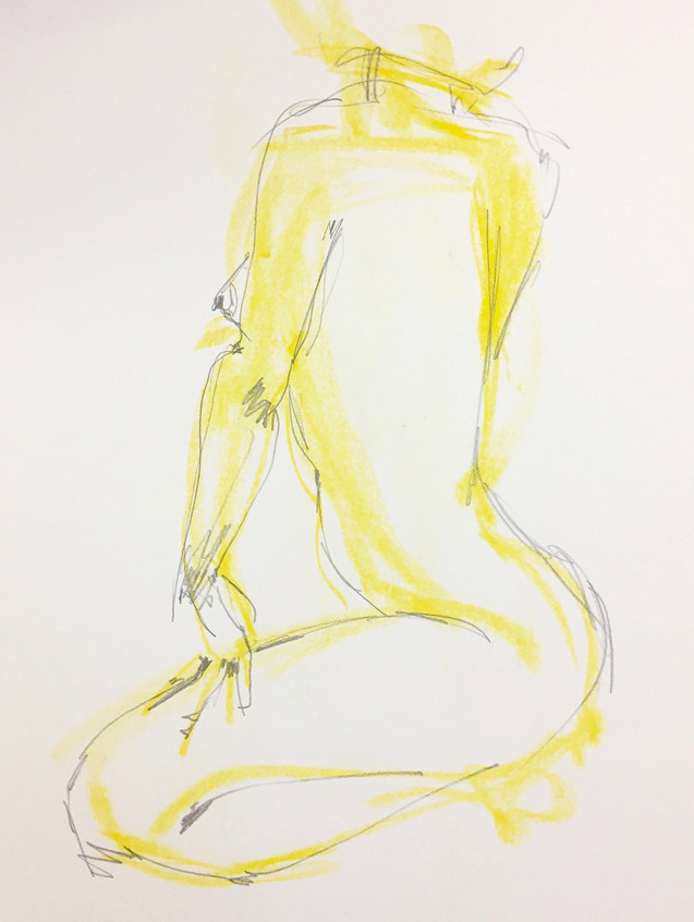 female study in yellow