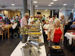 Een heerlijk buffet in augustus 2015