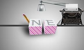 Noor's Logo: Write here, Write Now.
