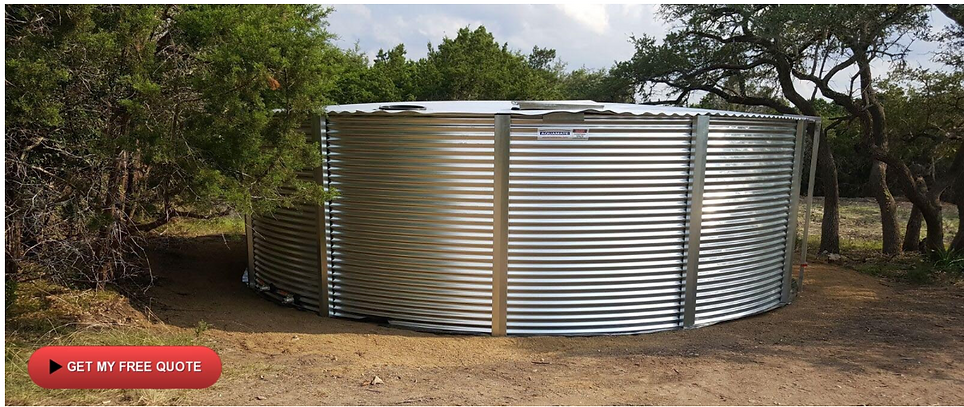 Steel water tank for fire suppression