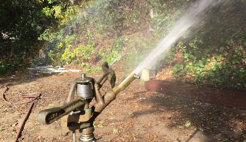 A D65 Rainbird puts out fires with 16 gallons per minute