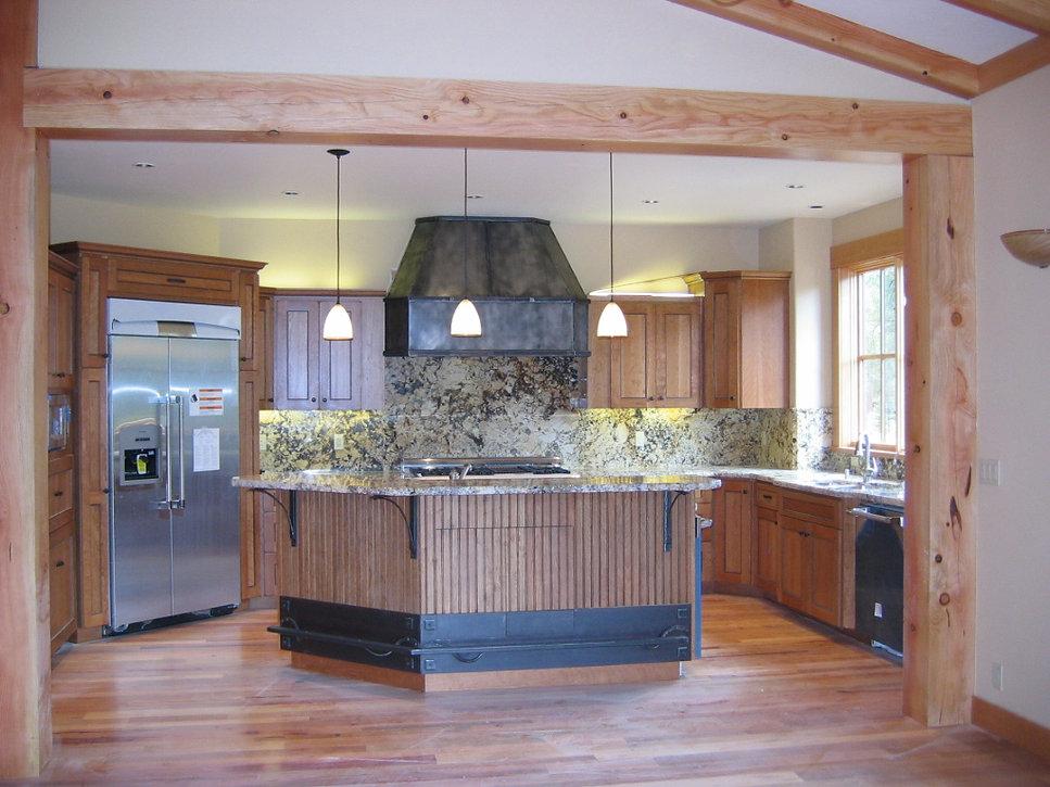 Custom Kitchen with Granite counter tops and backsplash