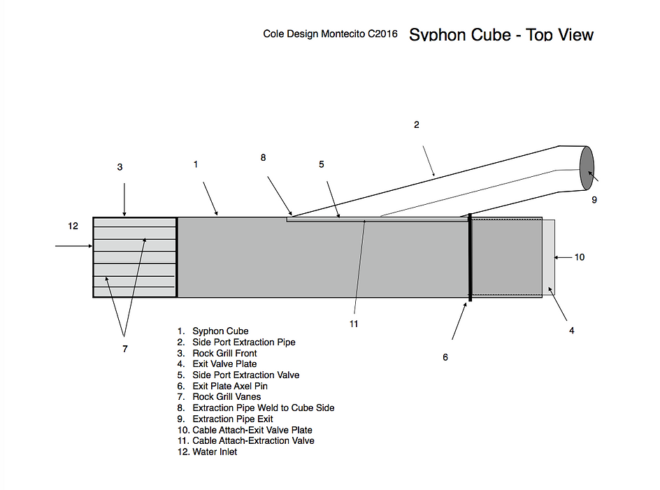 Patent Drawing, Stormwater Siphon Cube, Cole Design Montecito