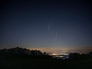 Komet Neowise über Rosenheim