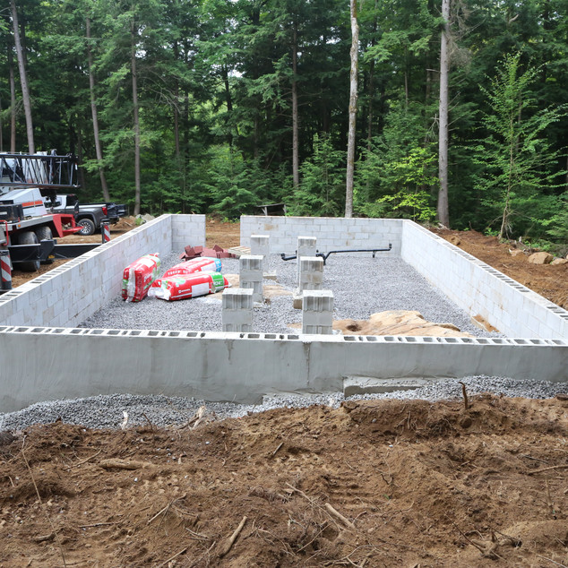 Foundation is completed.