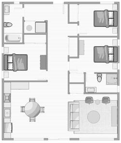 3-Bedroom Layout