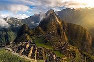 Unforgettable sunrise in Machu Picchu. A