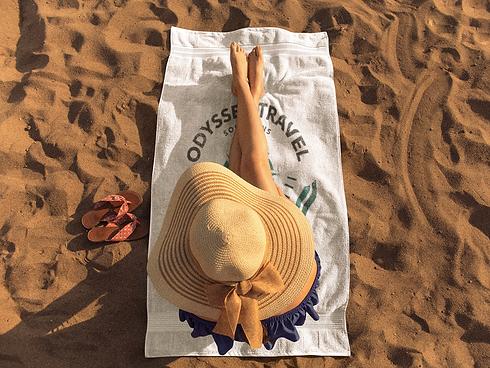 girl-sunbathing-on-a-beach-towel-templat
