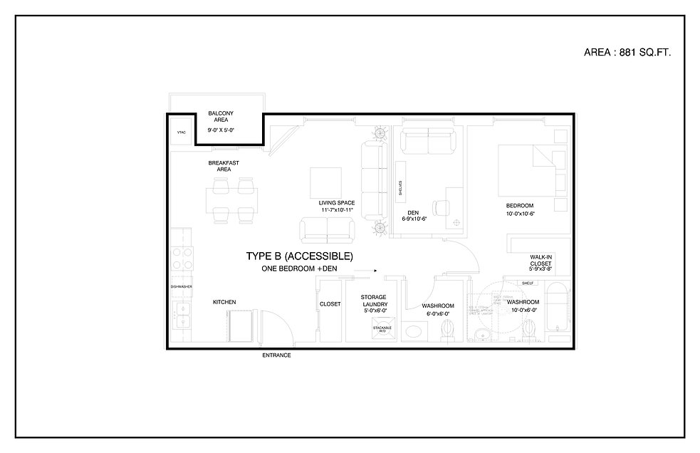 PROPOSED FLOOR PLAN -ALL-UNITS-TYPE B-AC