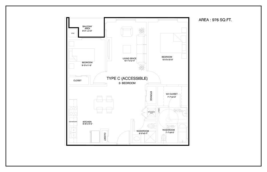 PROPOSED FLOOR PLAN -ALL-UNITS-TYPE C-AC