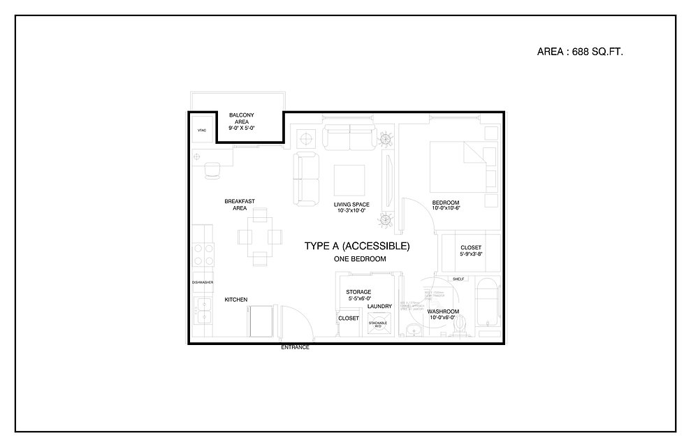 PROPOSED FLOOR PLAN -ALL-UNITS-TYPE A-AC