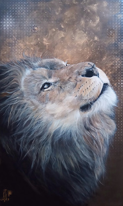 """Panthera Leo"" - Partie haute totem"