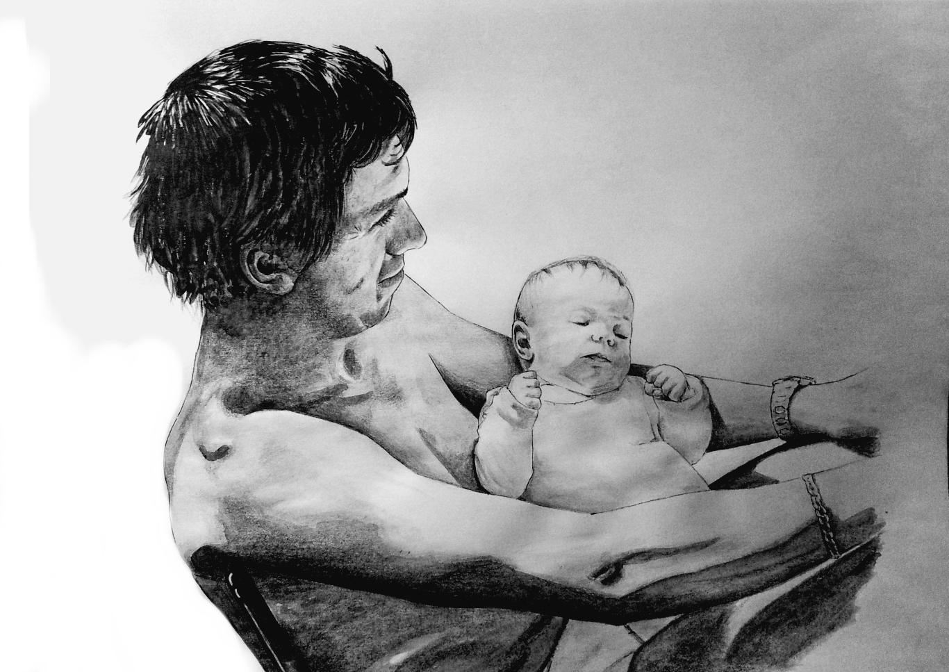 Père à l'enfant