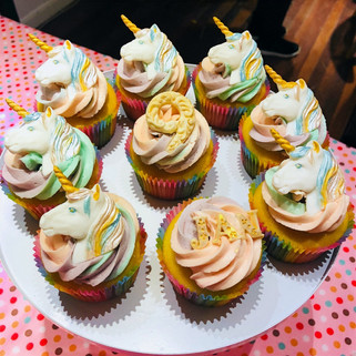 Unicorn cupcakes for my daughter's 9 years old party