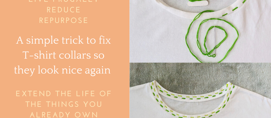 How to fix a stretched T-shirt neckline - extend the life of what you already own