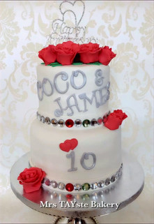 10 year anniversary cake for Coco and James