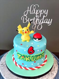 Pikachu cake for Takumi