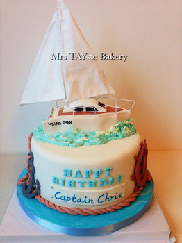 Sail boat cake for Chris