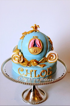 Cinderella's pumpkin coach cake for Chloe