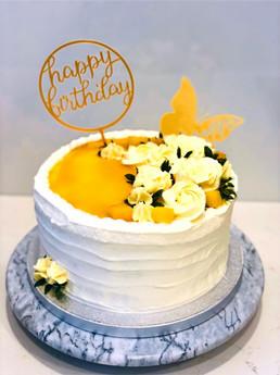 Mango cream cake for my daughter