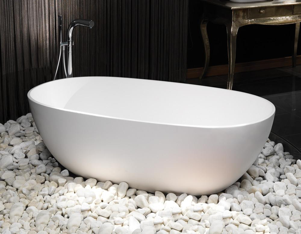 Cloud freestanding stone bath