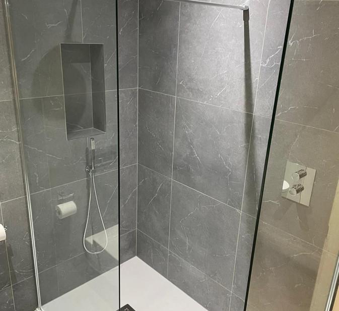 walk in shower with giorgio tray