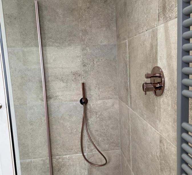 rustic wet room