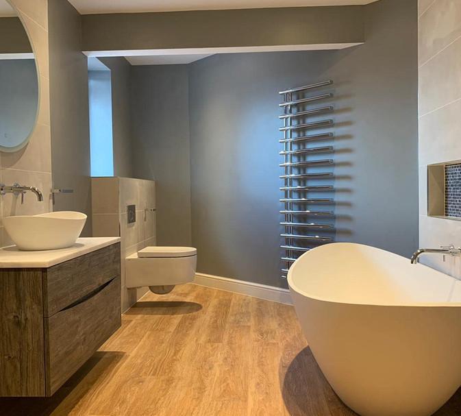 crosswater vanity unit and waters bath