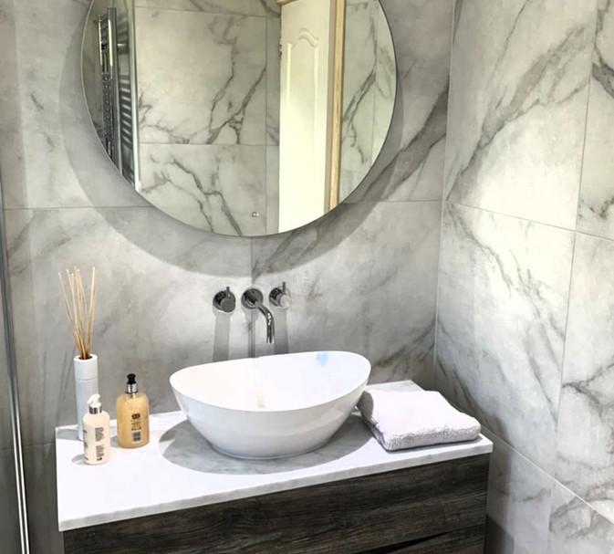 stone basin driftwood vanity unit