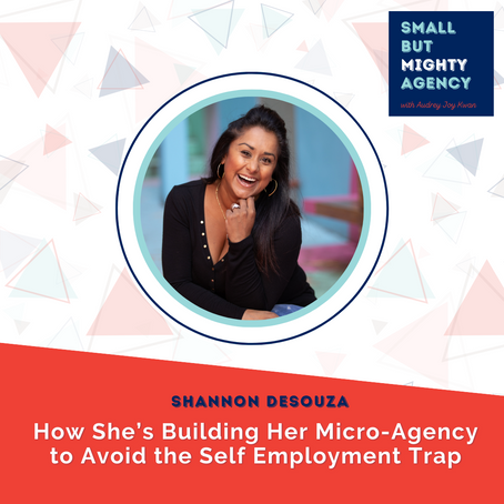 Shannon DeSouza: How a micro-agency is building the business to avoid the Self Employment Trap