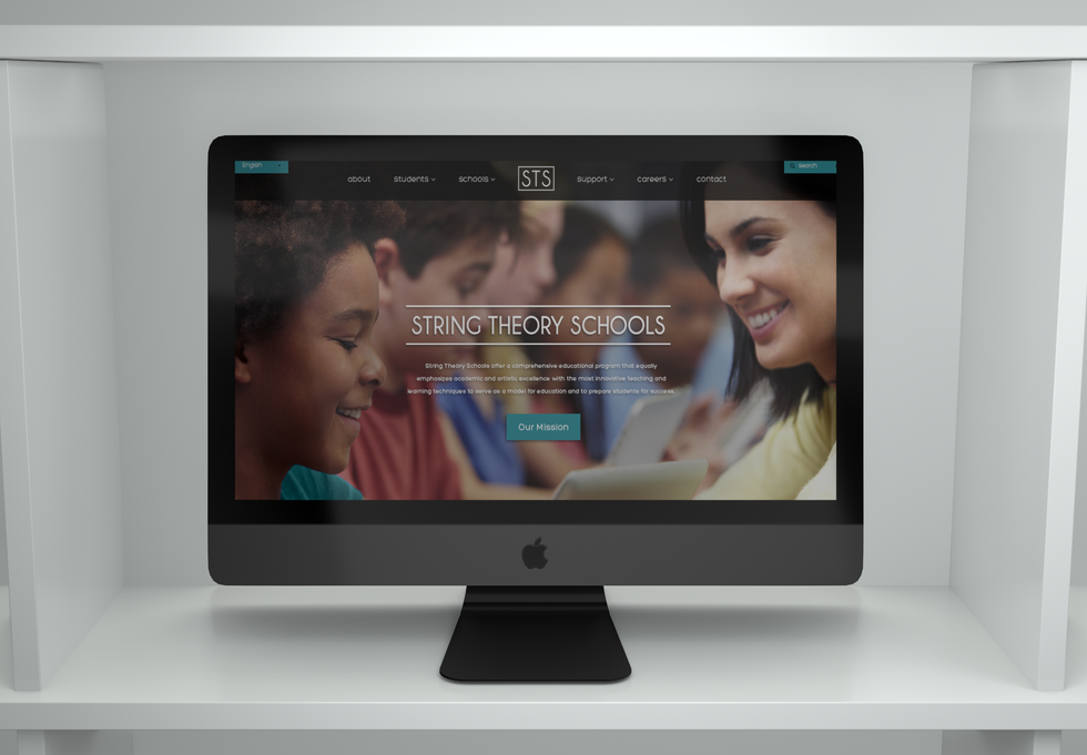 String Theory School Website Concept