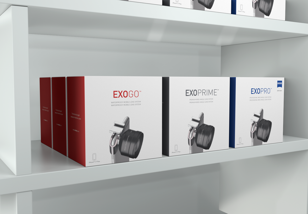 ExoLens Product Range as proposed to Apple for Apple stores nationwide
